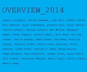 overview_2014_Bruno-David-Gallery